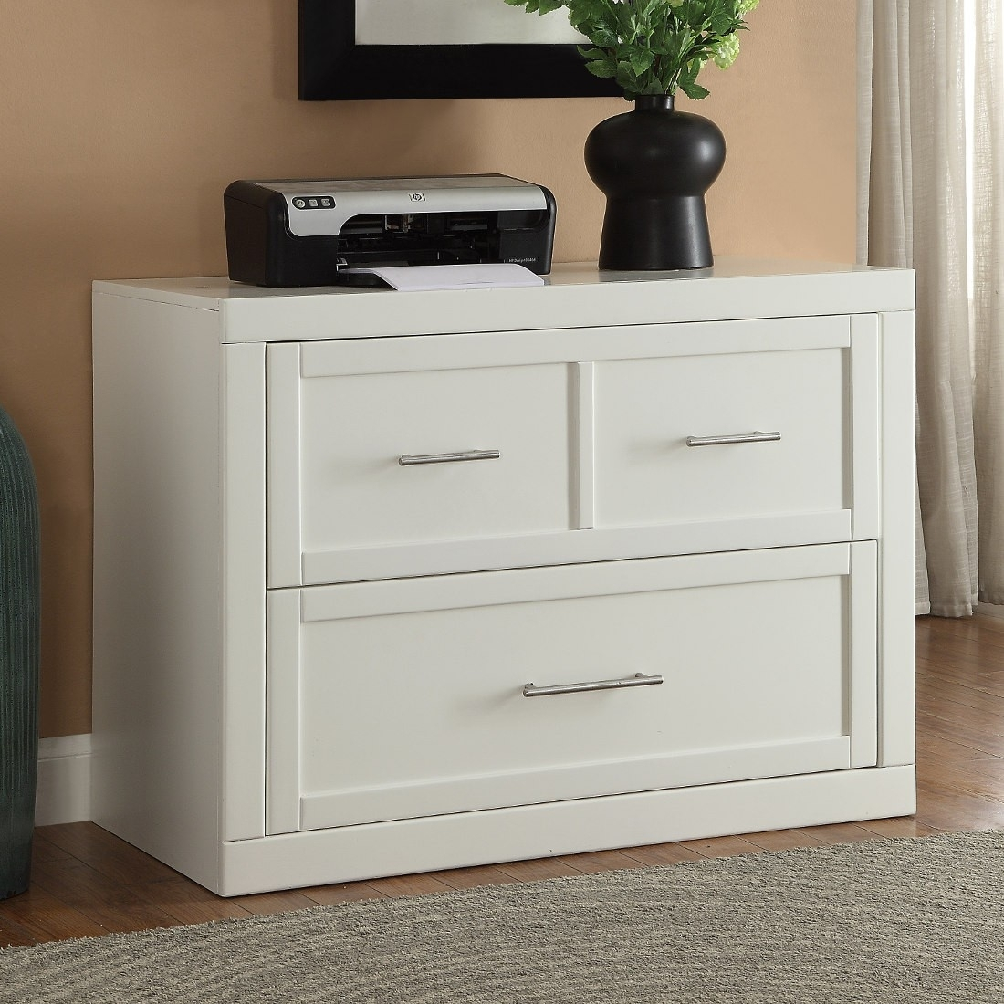White Wood Lateral File Cabinet Madison Art Center Design