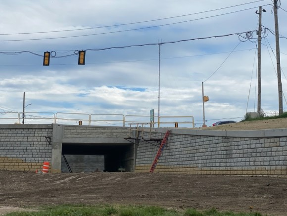 An underpass of Gammon Road currently under construction