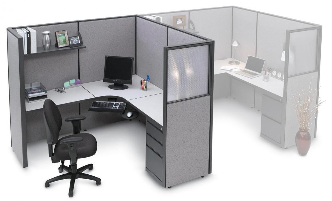 L Shaped Cubicle Desk With Drawers Madison Liquidators
