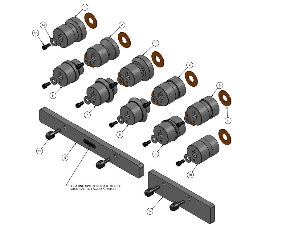 RAMS 24-28 Gauge Acme Double Seam Rolls