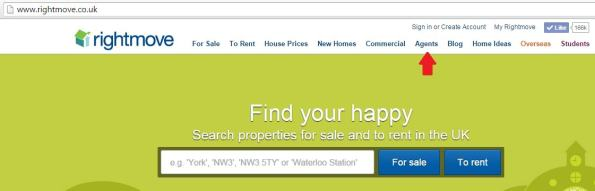 Finding estate agents on Rightmove