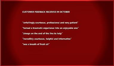 October customer feedback