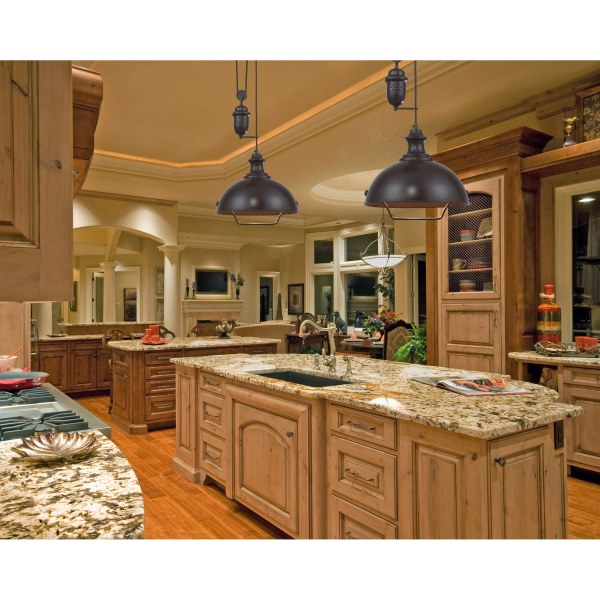 farmhouse kitchen island lights Farmhouse 2 Light Island In Oiled Bronze by Elk Lighting