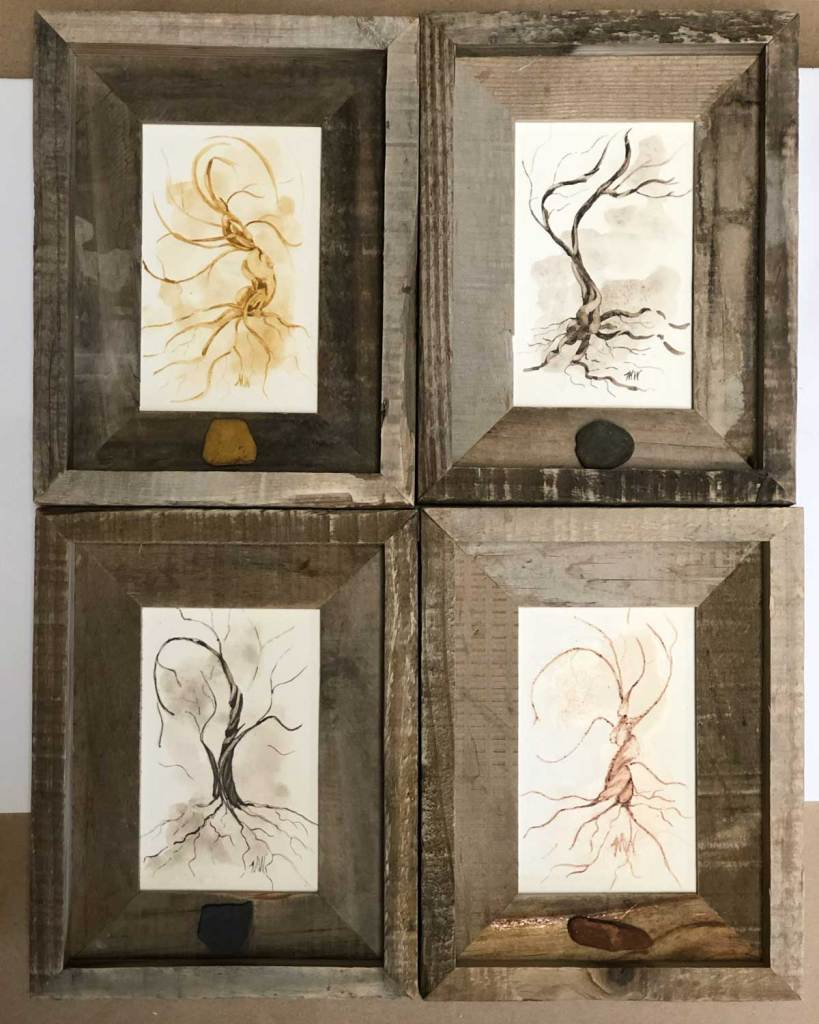 A series of Twisted Trees by Madison Woods.