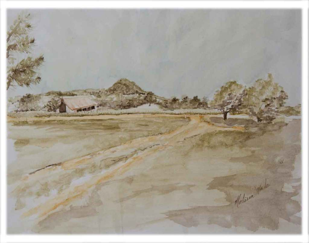 A farm painting for a real estate agent.