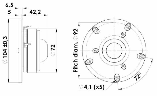ScanSpeak Limited Edition D2604/8320-02 Textile Dome