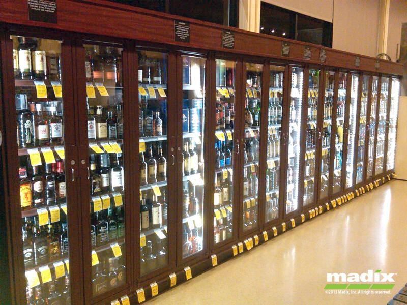 Liquor Security Cabinet Gondola LockUp System by Madix
