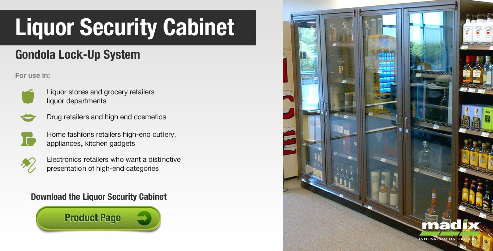 Liquor Security Cabinet Gondola LockUp System by Madix
