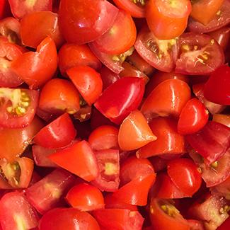 Tomatrelish er baseret på cherrytomater