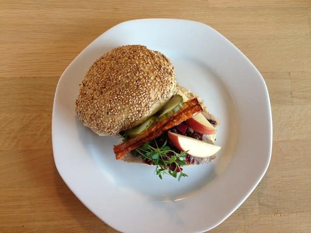 flæskestegs burger