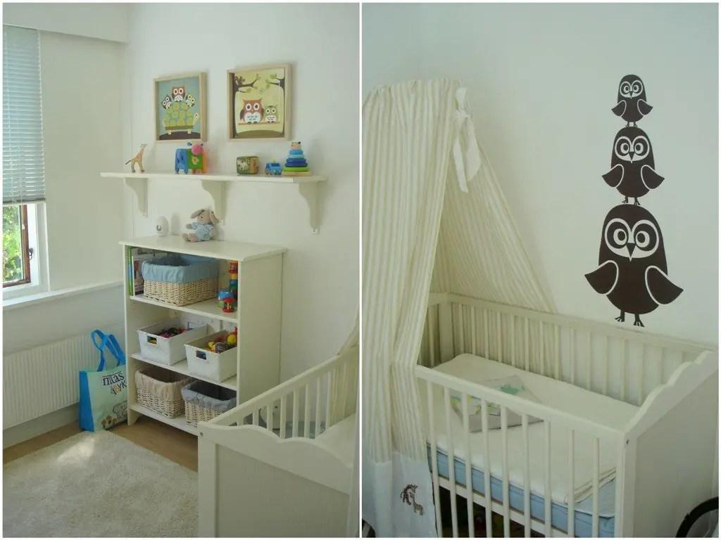 Maltes babyværelse - ugler