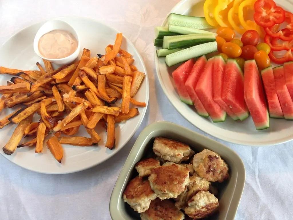Sweet potato fries med dip