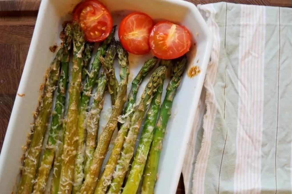 Asparges i ovnen