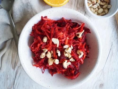 Råkost med rødbede og gulerod
