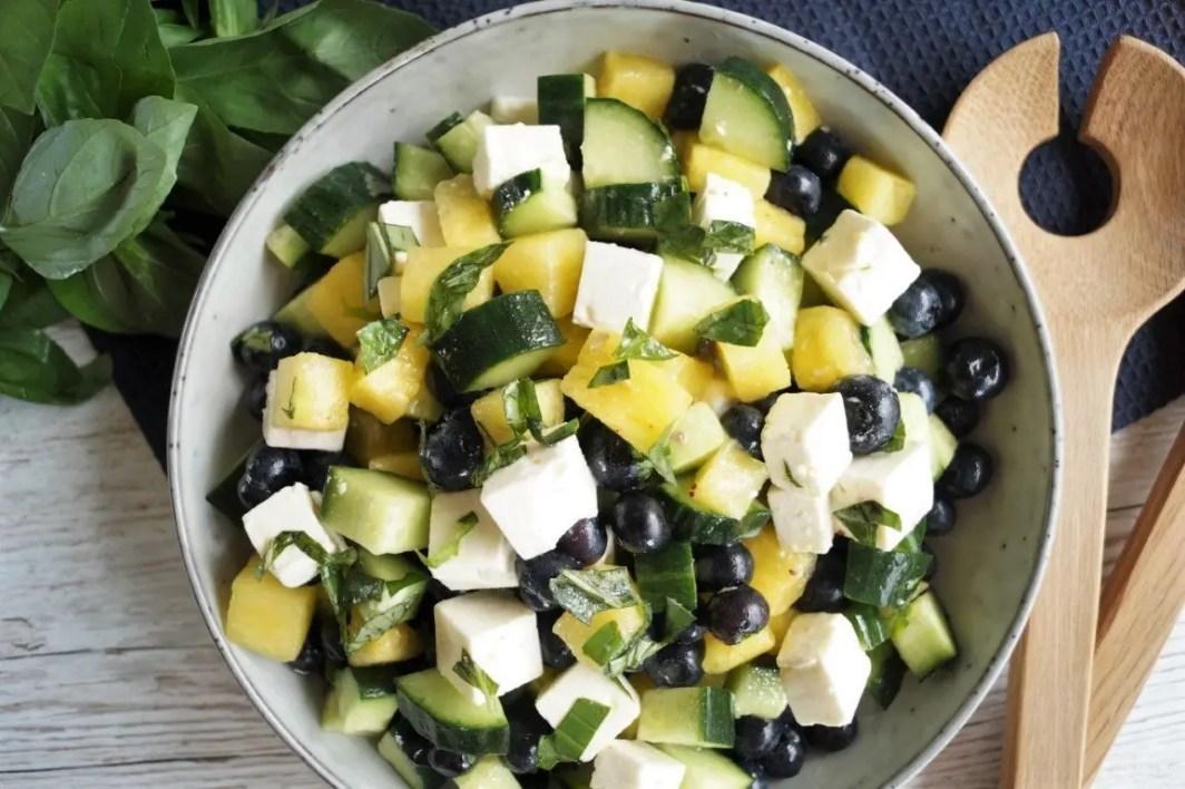 Vandmelon salat med feta