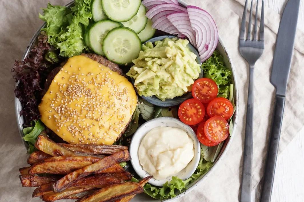 Burger-skål