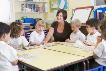 teacher students guided reading