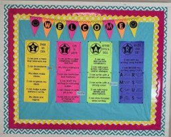 Literacy Writing Language Arts Goal Board