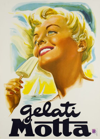 Gelati Motta 1960  Mad Men Art  Vintage Ad Art Collection
