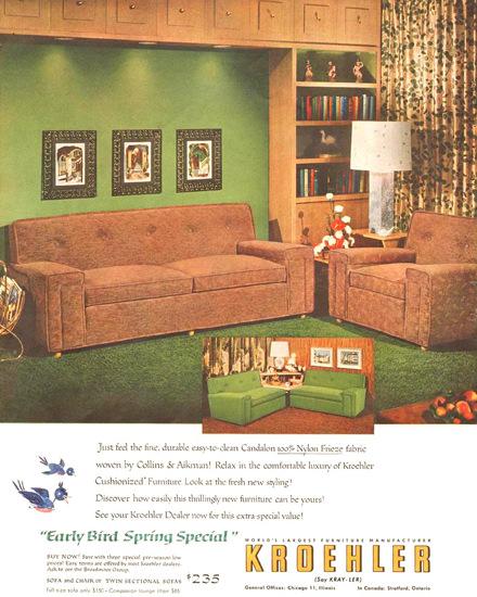 Kroehler Furniture Living Room 1954  Mad Men Art
