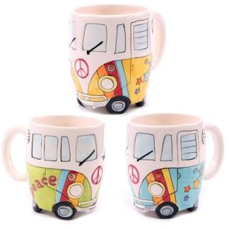 Mad Merch Camper Van Rainbow Mug