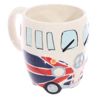 Mad Merch Camper Van Union Jack Flag Mug
