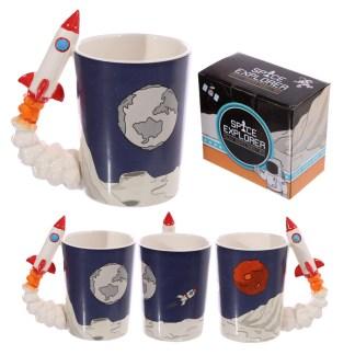 Mad Merch Space Explorer Rocket Mug