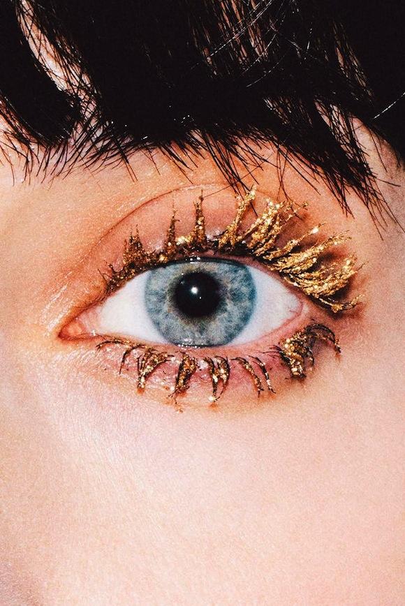 gold eye make up