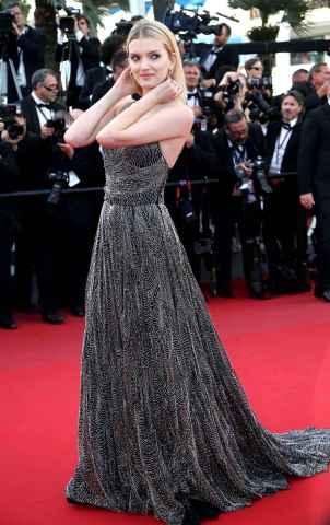 Lily Donaldson Cannes 2015 Saint Laurent