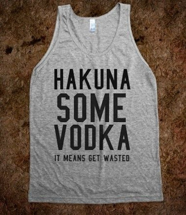 hakuna vodka tee shirt