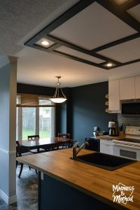 Faux Coffered Ceiling DIY | Madness & Method
