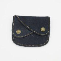 Portefeuille bleu en liège pour femme et homme