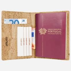 Étui pour passeport naturel en liège mixte