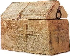 L'urna contenente i resti mortali della santa