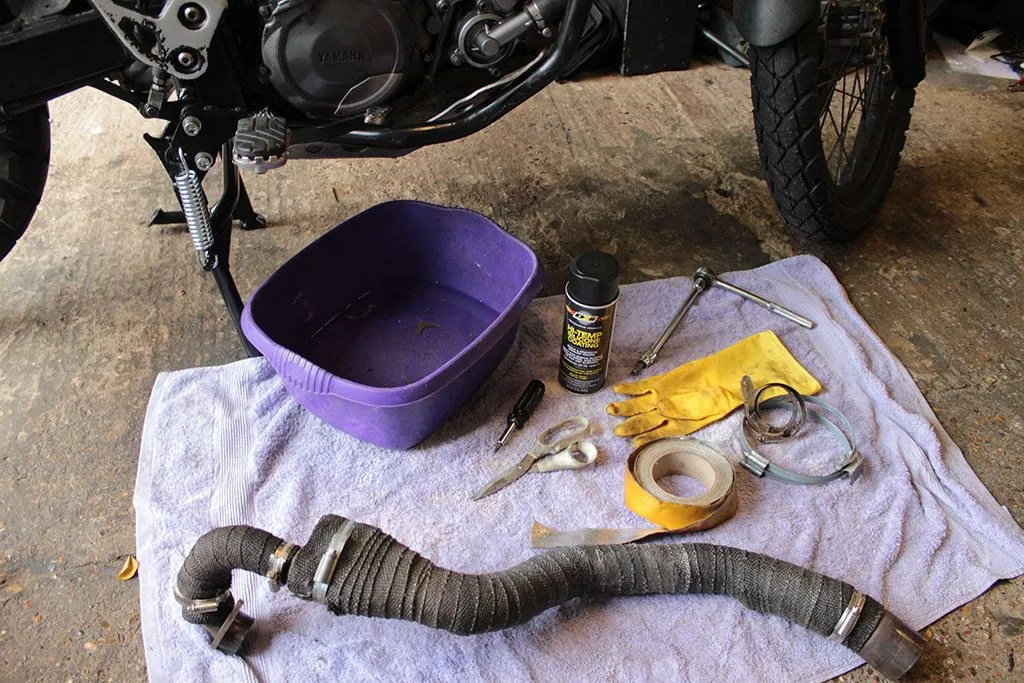 how to heat wrap a motorcycle exhaust
