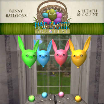 Bunny Balloons 1500 Points