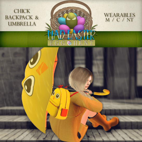 Chick Backpack & Umbrella 2500 Points