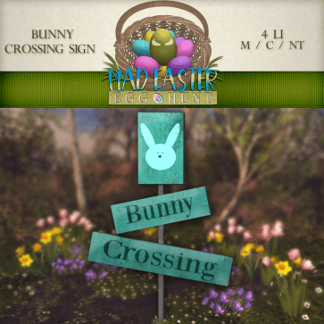 Bunny Crossing Sign 500 Points