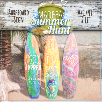 Surfboard Signs 1500 Points