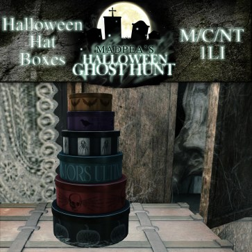 Halloween Hat Boxes - 1500 points
