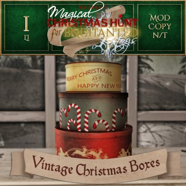Vintage Christmas Boxes - 500 Points
