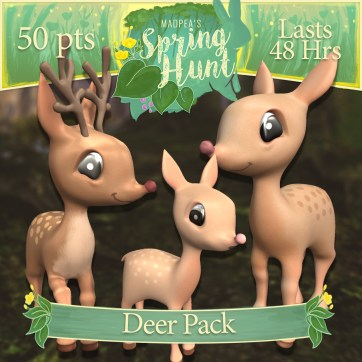 """The """"Deer Pack"""" costs $1920L, lasts 48 hours, and has Momma, Daddy, Baby Deer! (You save $305L)"""