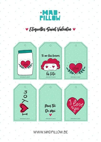 Étiquettes Saint Valentin 2018