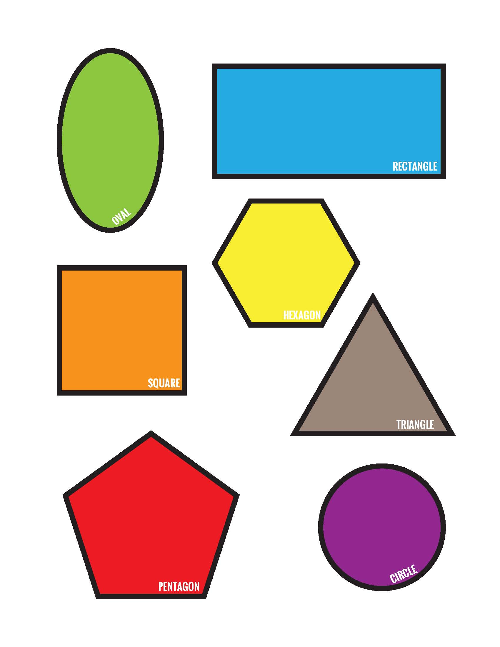 Freebies Colorful Shapes Matching File Folder Printable Game Free Download