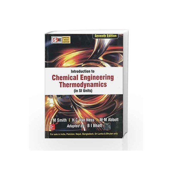 Introduction Chemical Engineering Thermodynamics