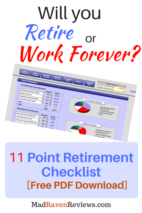 retirement preparation checklist