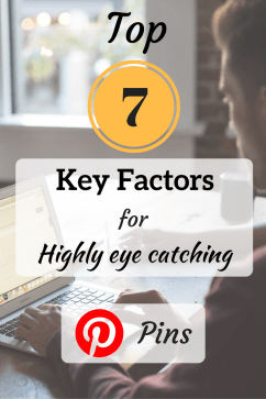 7 key factors for highly eye catching pinterest pins step 2.5 - pinterest graphic design