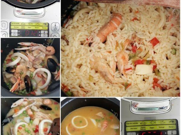Receta de PAELLA fácil en el robot de cocina Moulinex