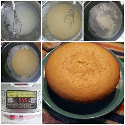 Bizcocho de limón en el robot de cocina moulinex