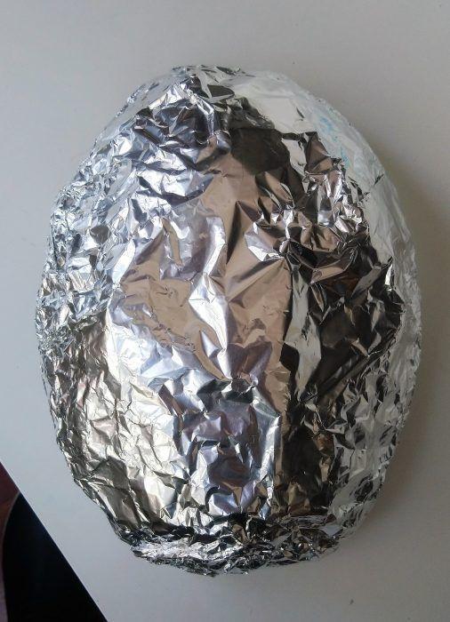 Molde de papel aluminio para máscara